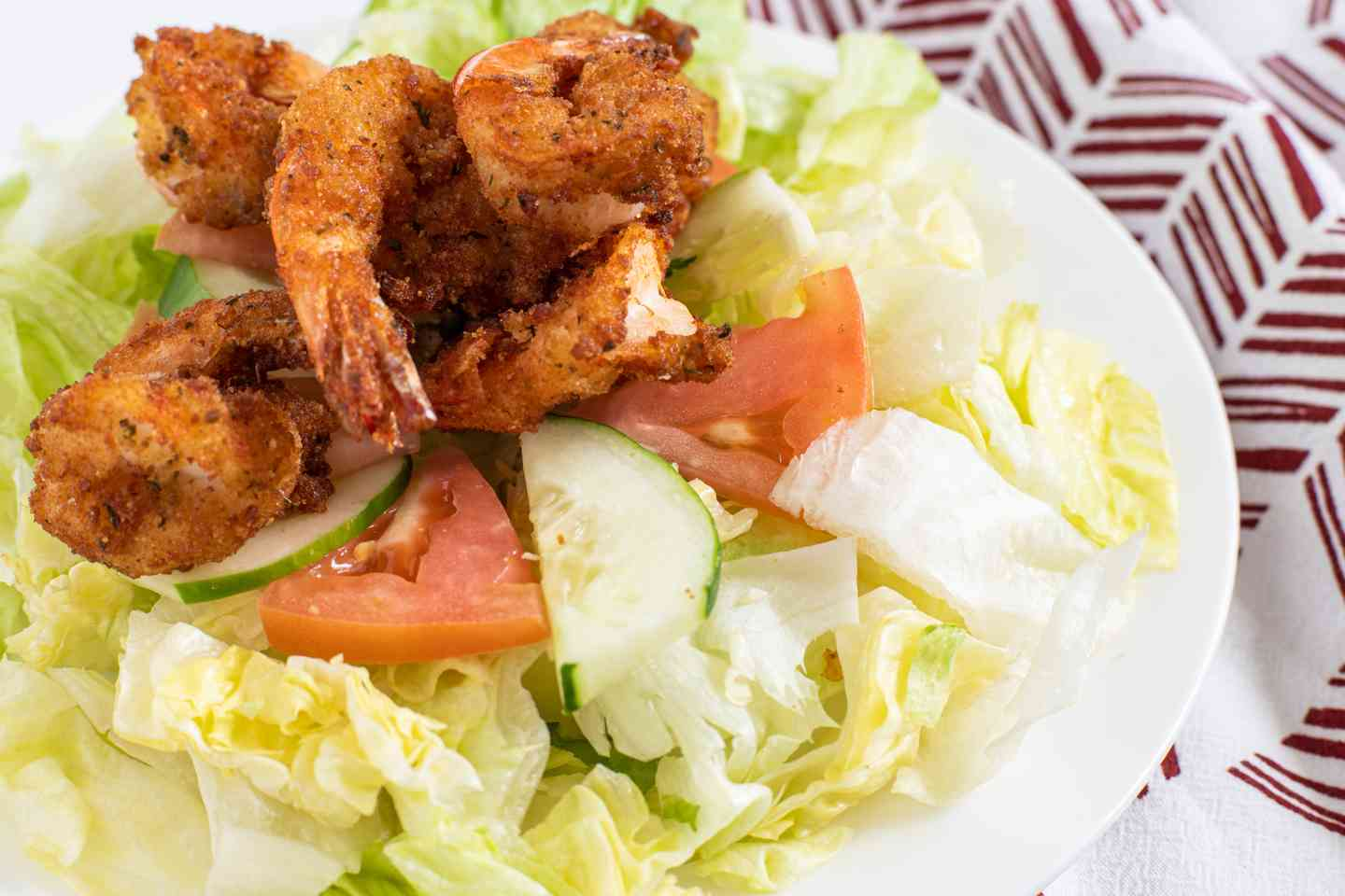 (12) Pieces Fried Shrimp Salad