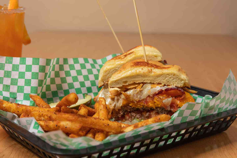 Crispy Cheddar Burger
