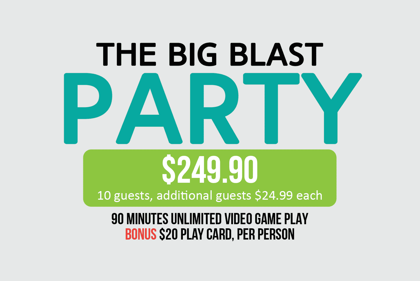The Big Blast Party Package