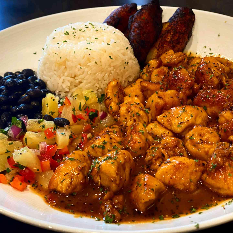 Jamaican Spicy Shrimp or Chicken