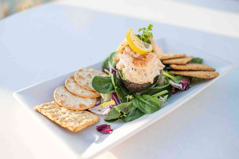 Seafood Salad Stuffed Avocado Half