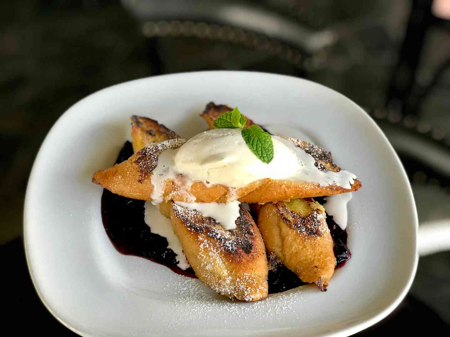 Vanilla Dipped French Toast w/ Jumbleberries & Fresh Whipped Cream