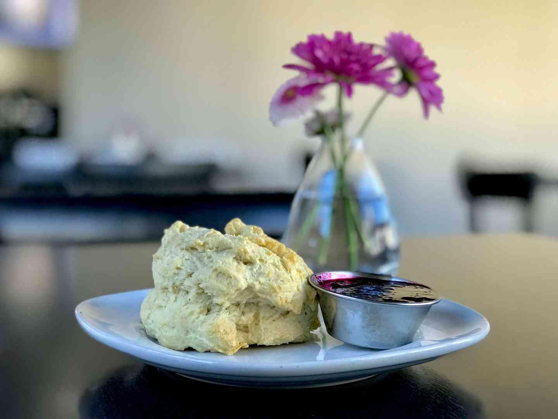 Biscuit w/ Jumbleberry Jam or Cornbread w/ Honey