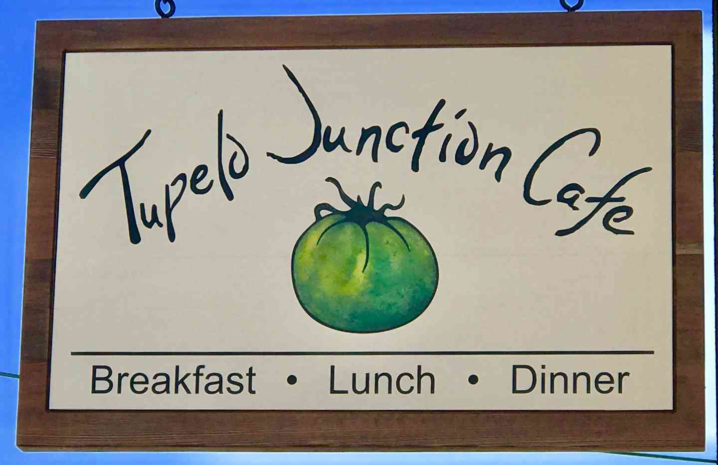 Tupelo Junction Cafe sign