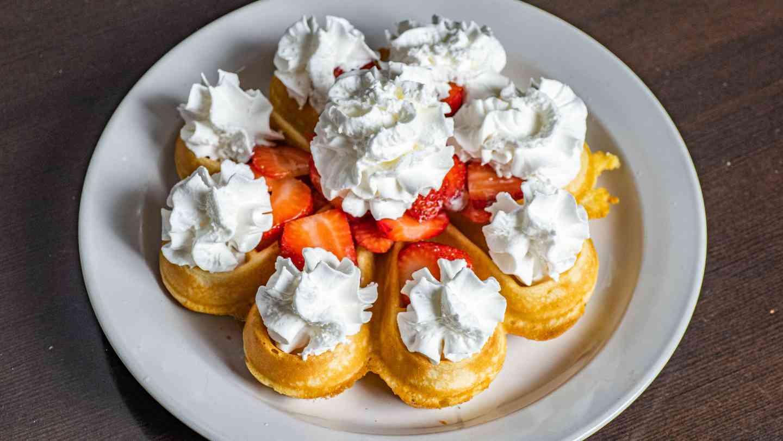 Belgian Waffle & Strawberries
