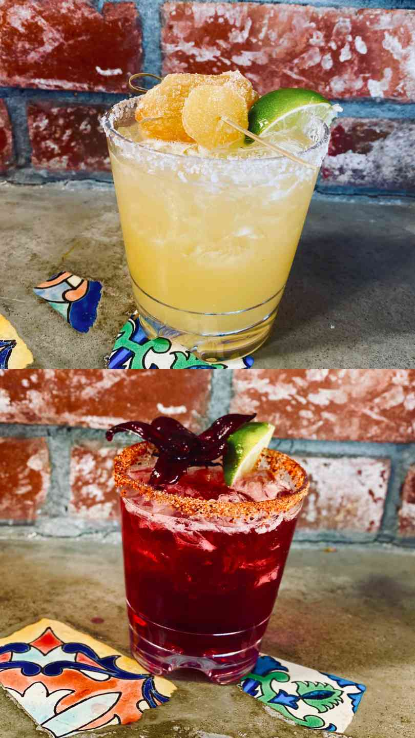 Two brand new margaritas