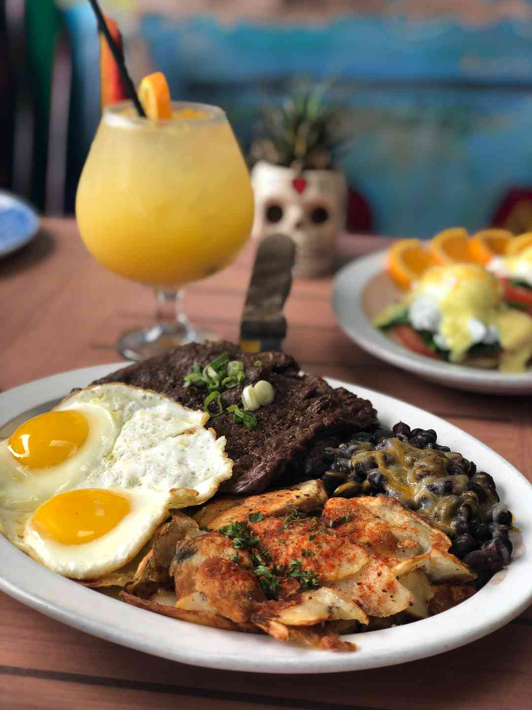 Carne Asada and Eggs