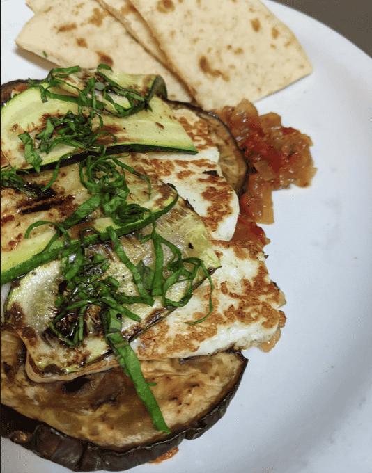 Haloumi & Vegetable Plate