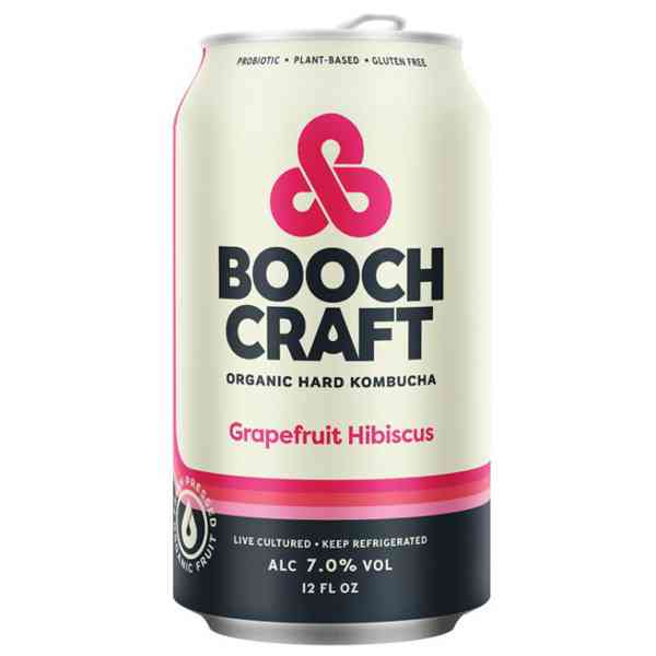 Boochcraft Grapefruit Hibiscus Heather (Hard Kambucha) 12oz. Can