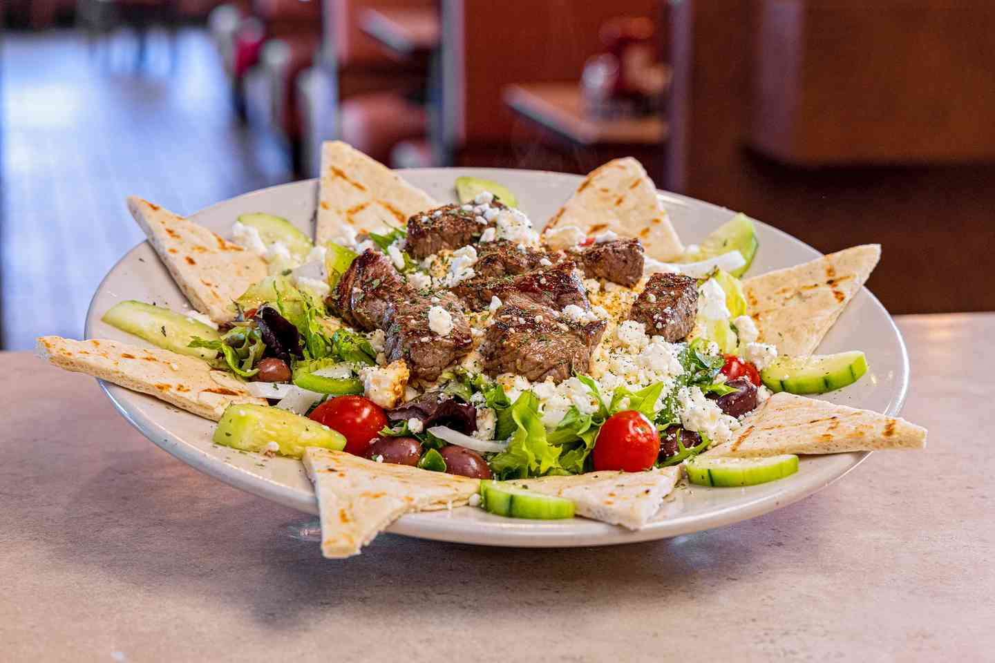 Settler's Greek Souvlaki Salad