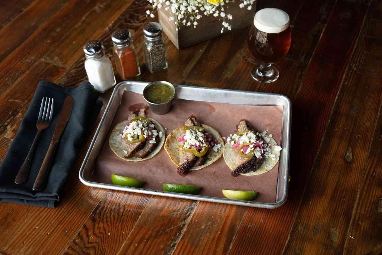 Brisket or Pork Belly Tacos