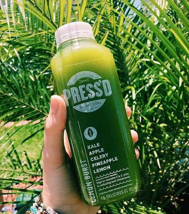 Juices made at Press'd Juice Bar