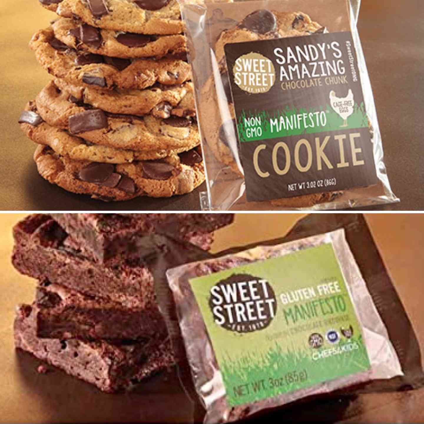 Chocolate Chunk Cookie & GLUTEN FREE BROWNIE