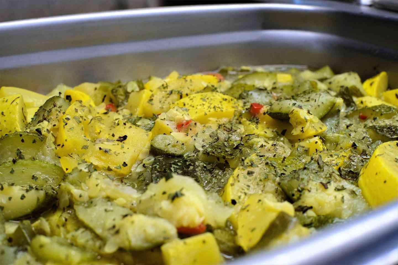 Sauteed yellow squash and zucchini