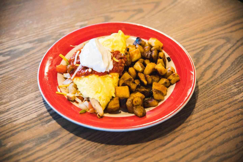 Chicken Fajita Omelet