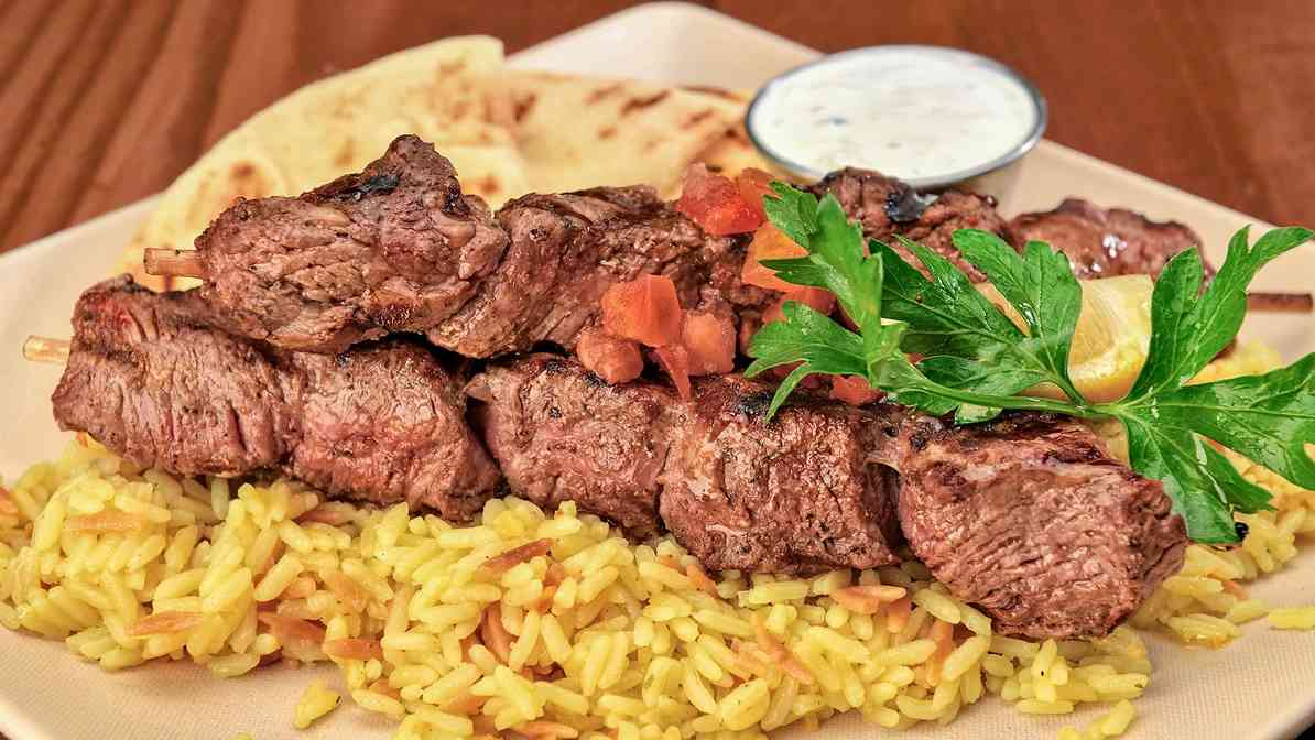 Grilled Steak Souvlaki