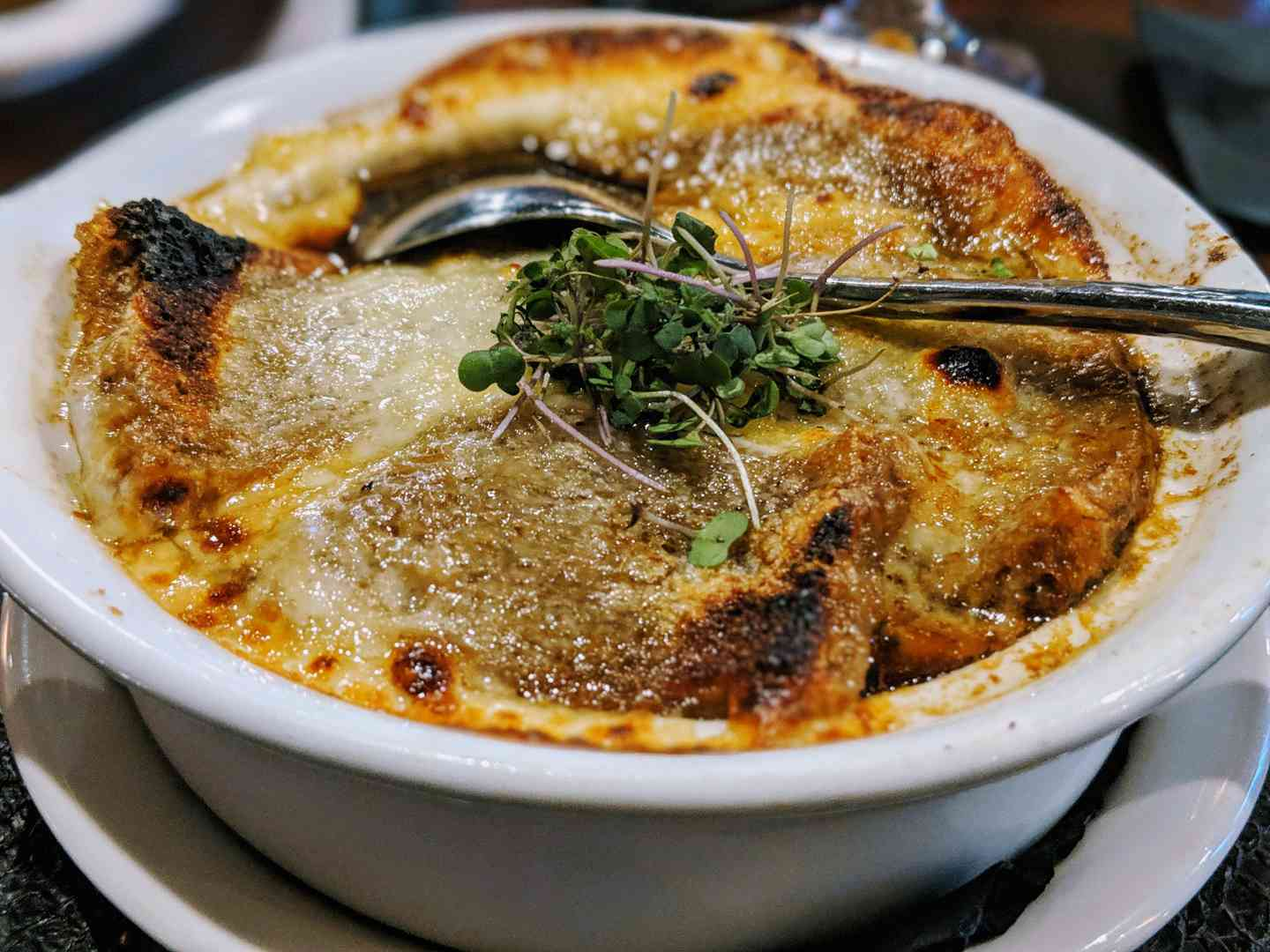 French Onion Au Gratin