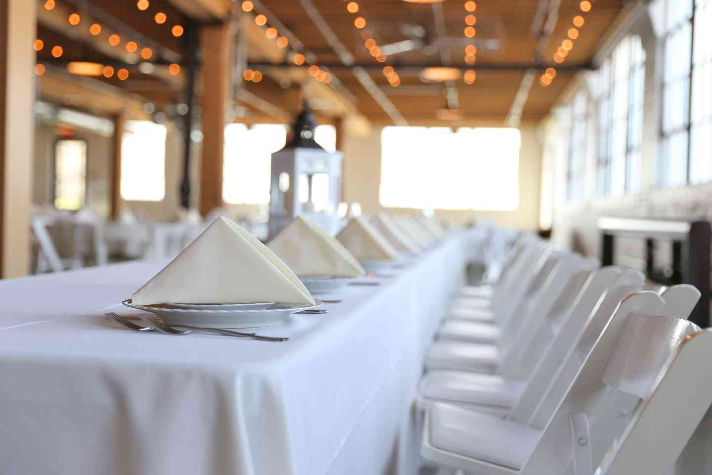 catering table and chairs