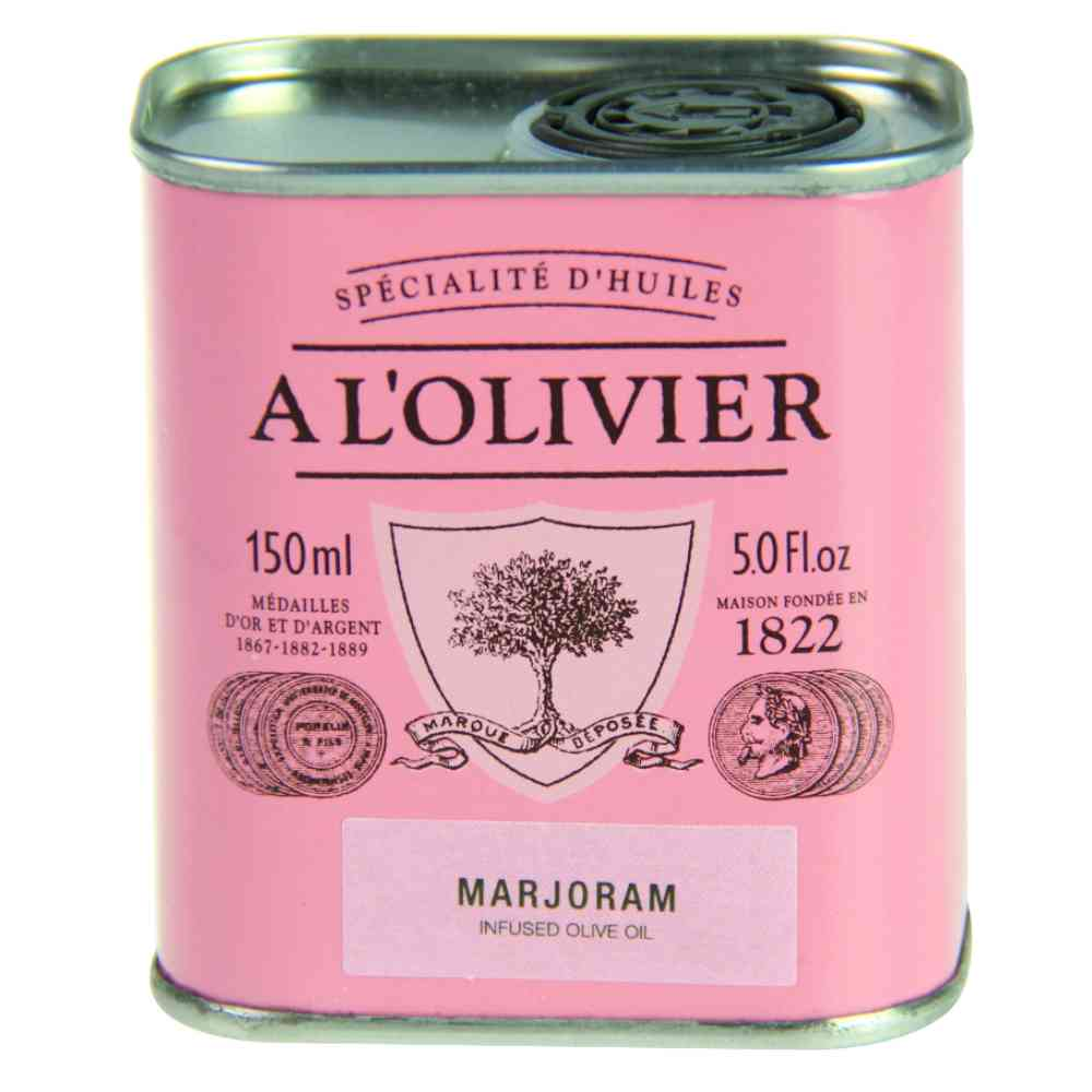 A L'OLIVIER MARJORAM INFUSED EXTRA VIRGIN OLIVE OIL: PINK TIN