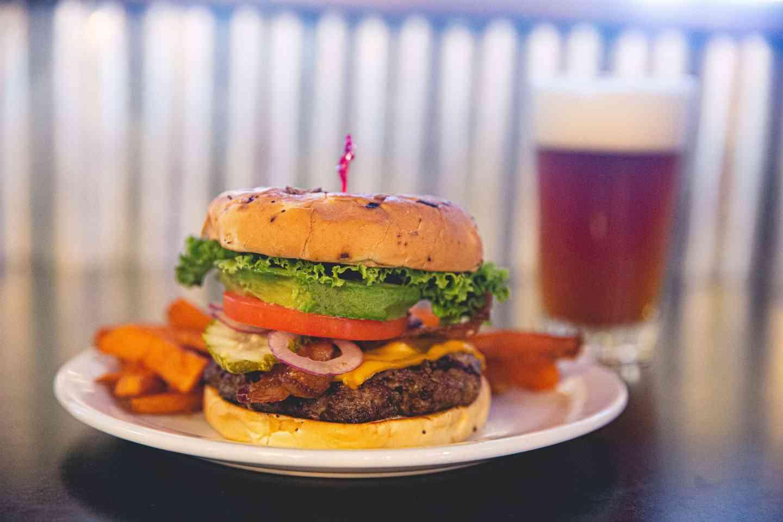 bacon avocado cheeseburger