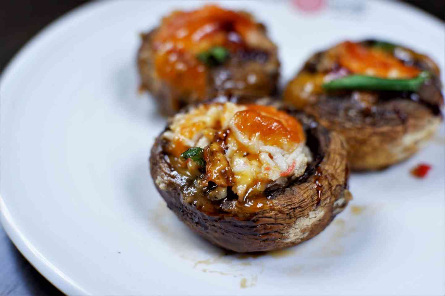 Seafood Stuffed Mushrooms