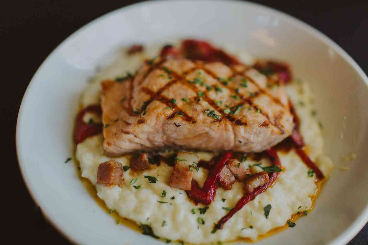Salmon and Rice Grits