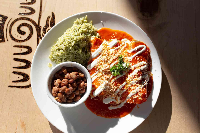 Tinga Enchilada