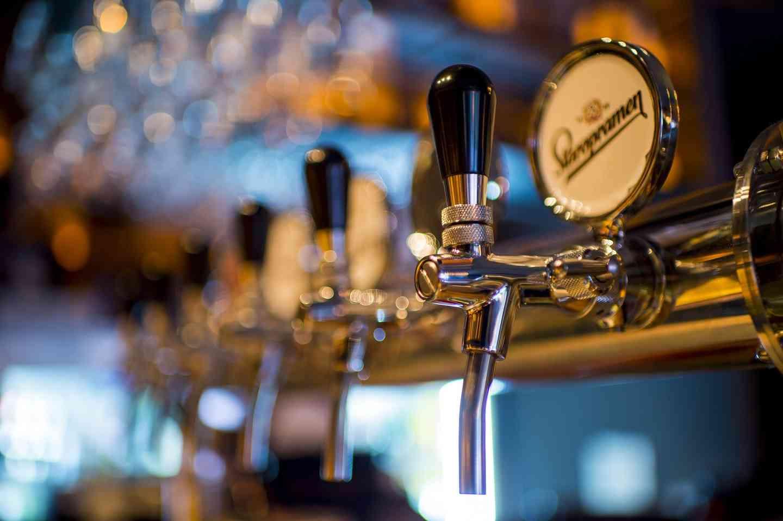 beer tap stock photo