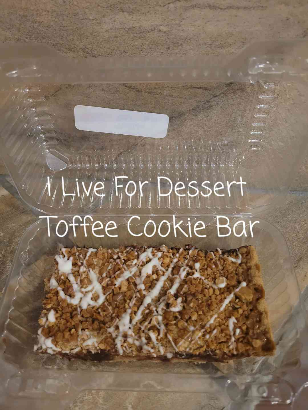 """Toffee Cookie Bar GF 3"""" x 6"""" Todays Batches"""
