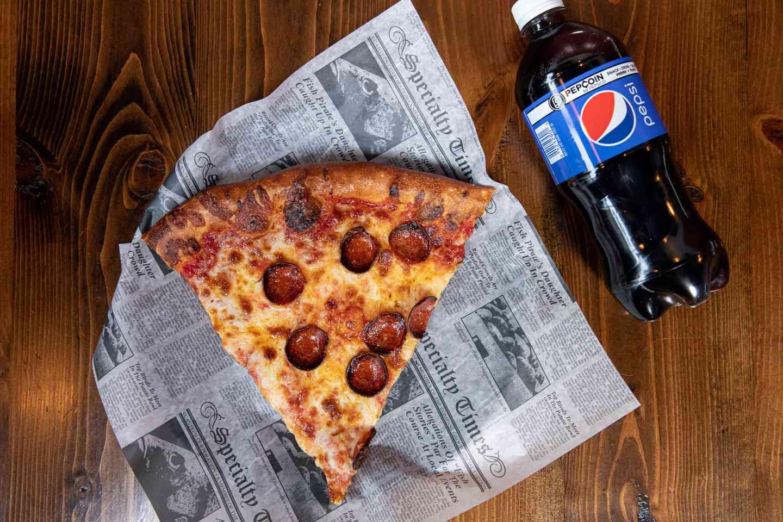 Slice of Pizza & Drink