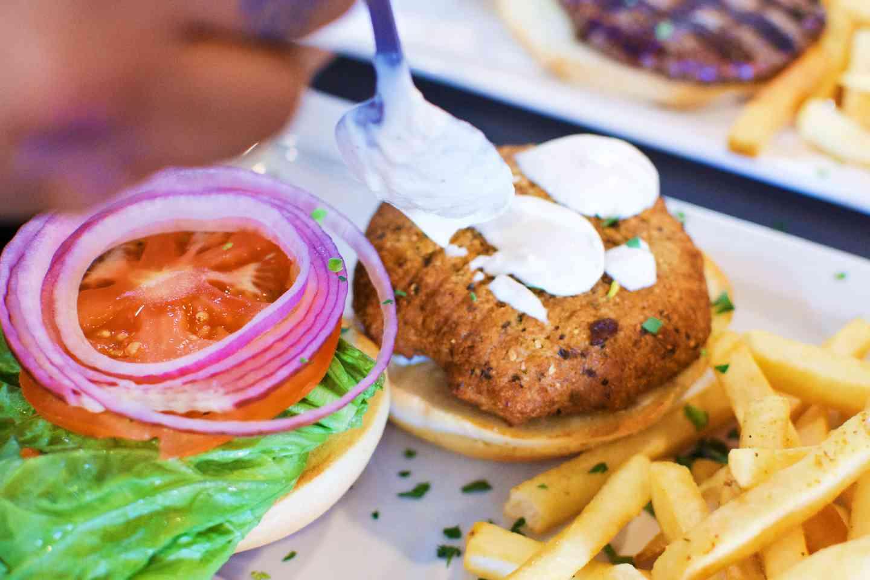 Falafel Burger or Sandwich