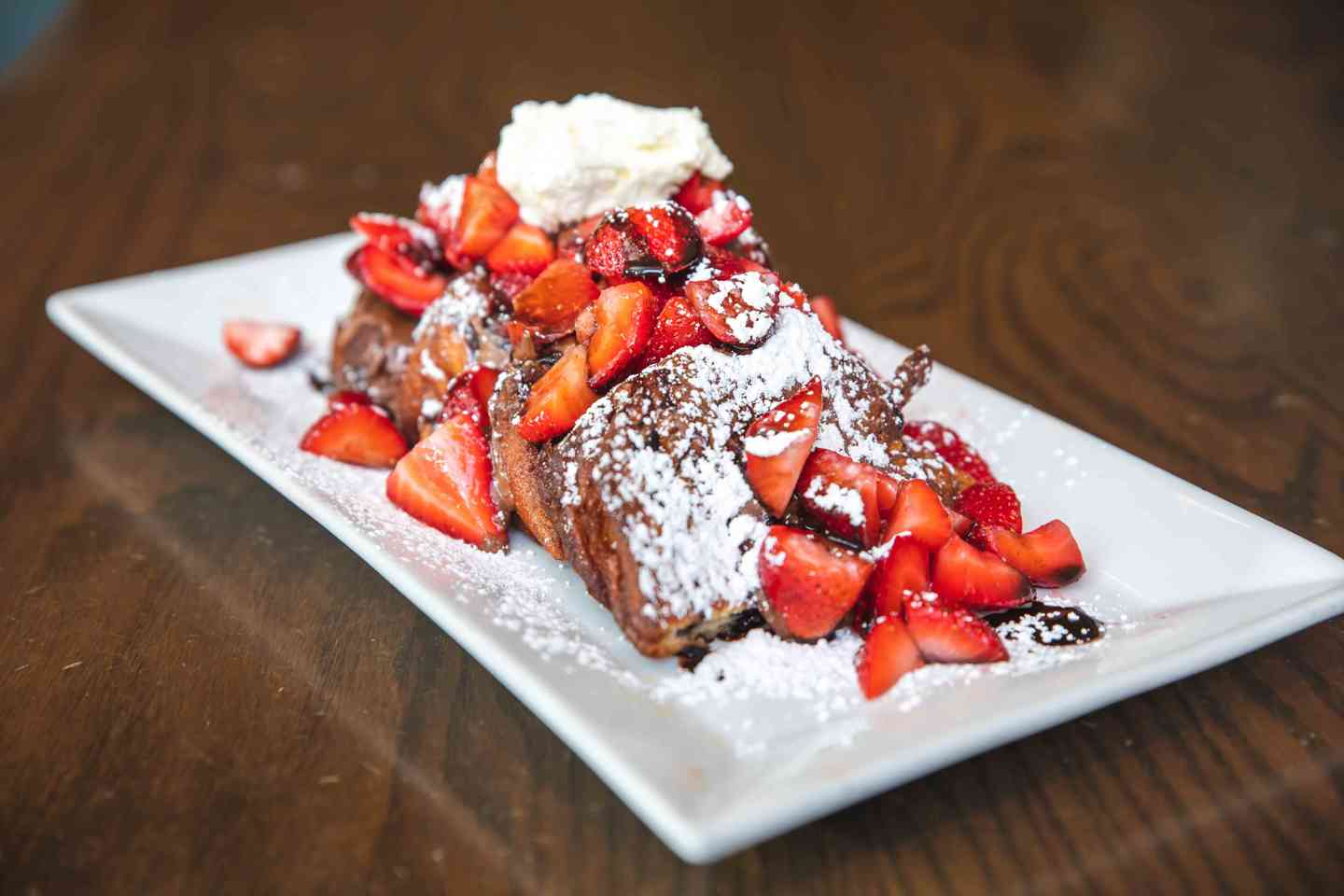 Strawberries and Chocolate French Toast