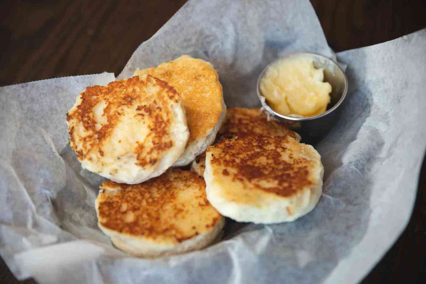 Grilled Honey Butter Biscuits