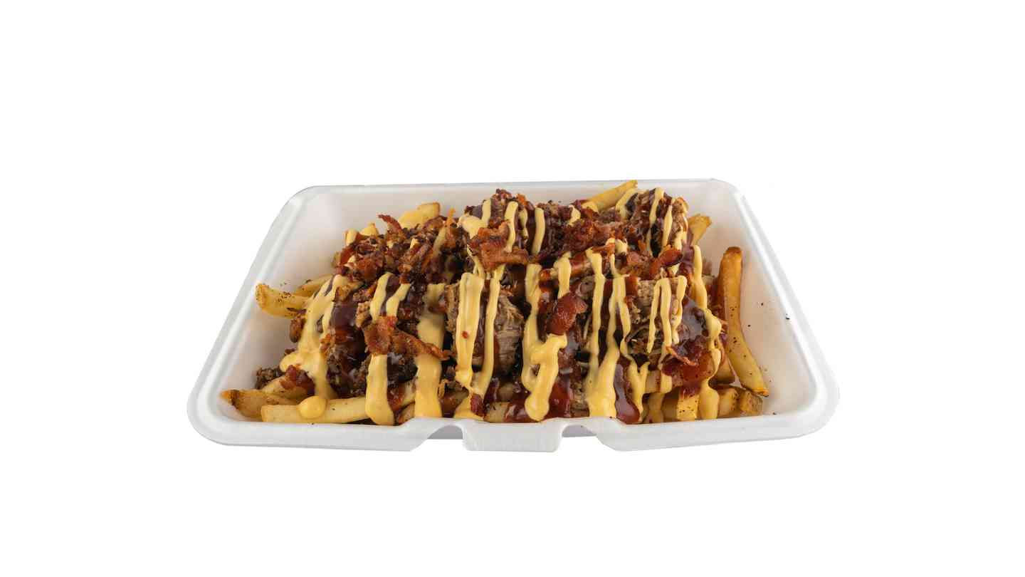 Pulled Pork Chili Cheese Fries