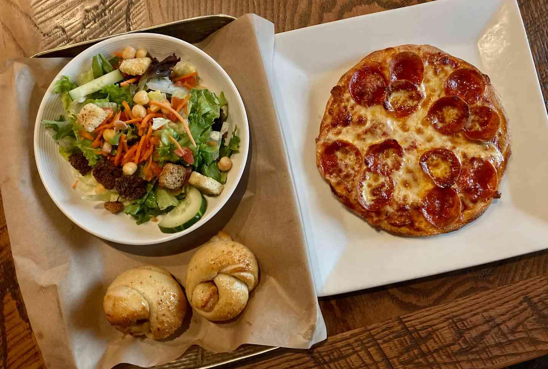 Pizza, Salad, & Knot Combo