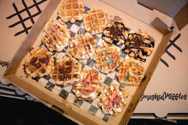 Dozen Smashed Waffles