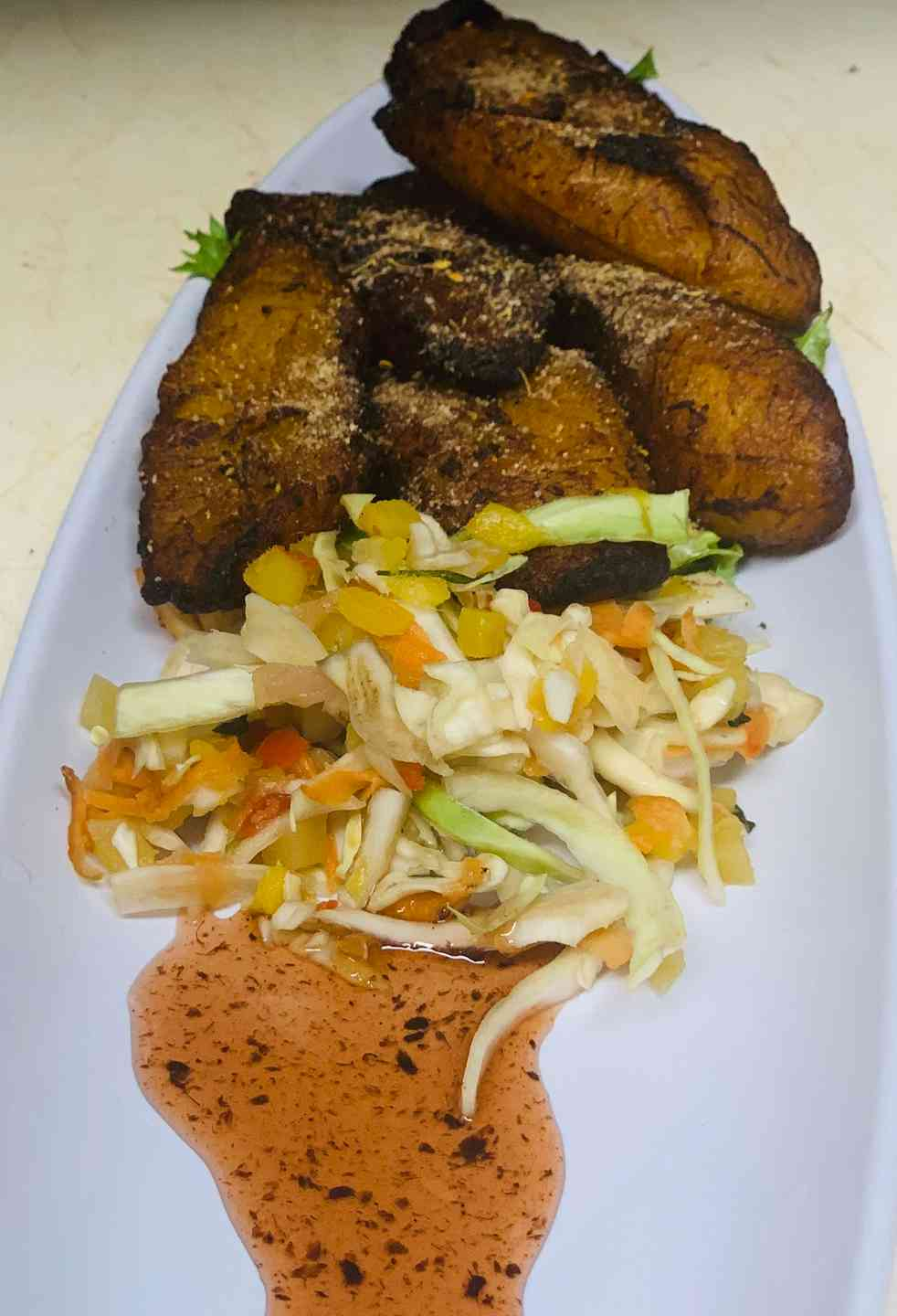 Jerk Fried Sweet Plantains