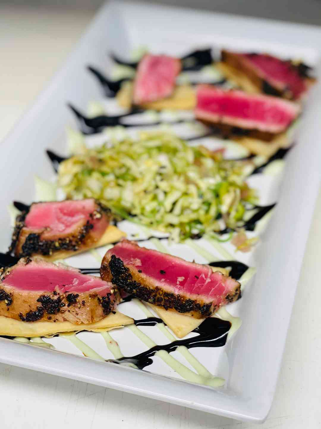 Rum Peppercorn Seared Tuna