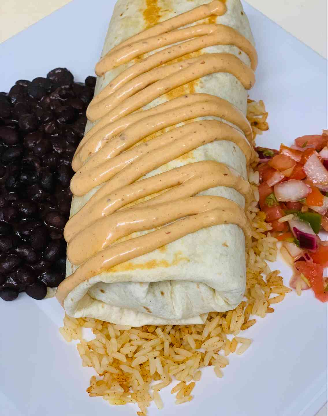 Cajun Yellowfin Tuna Burrito