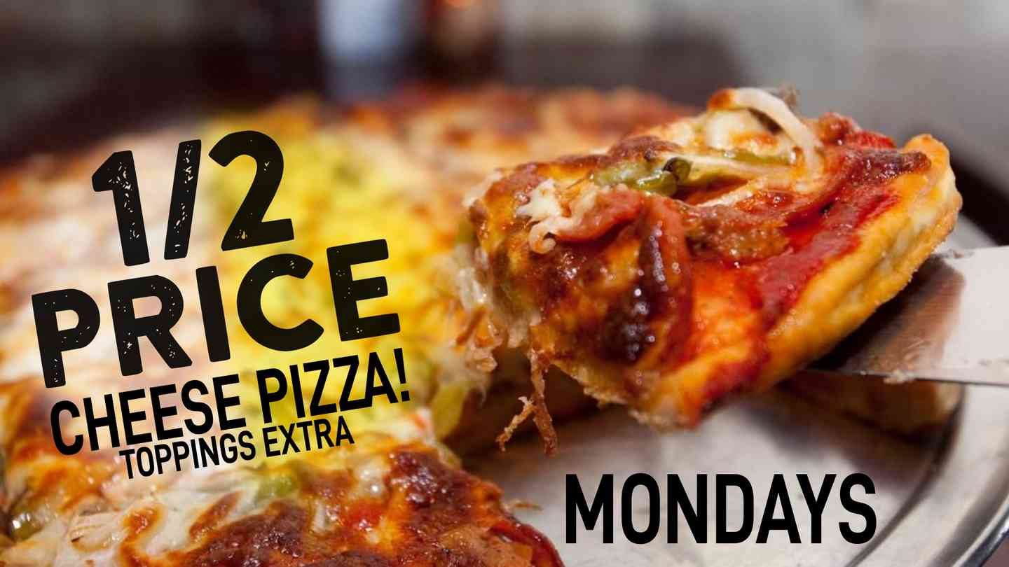 1/2 Price Cheese Pizza