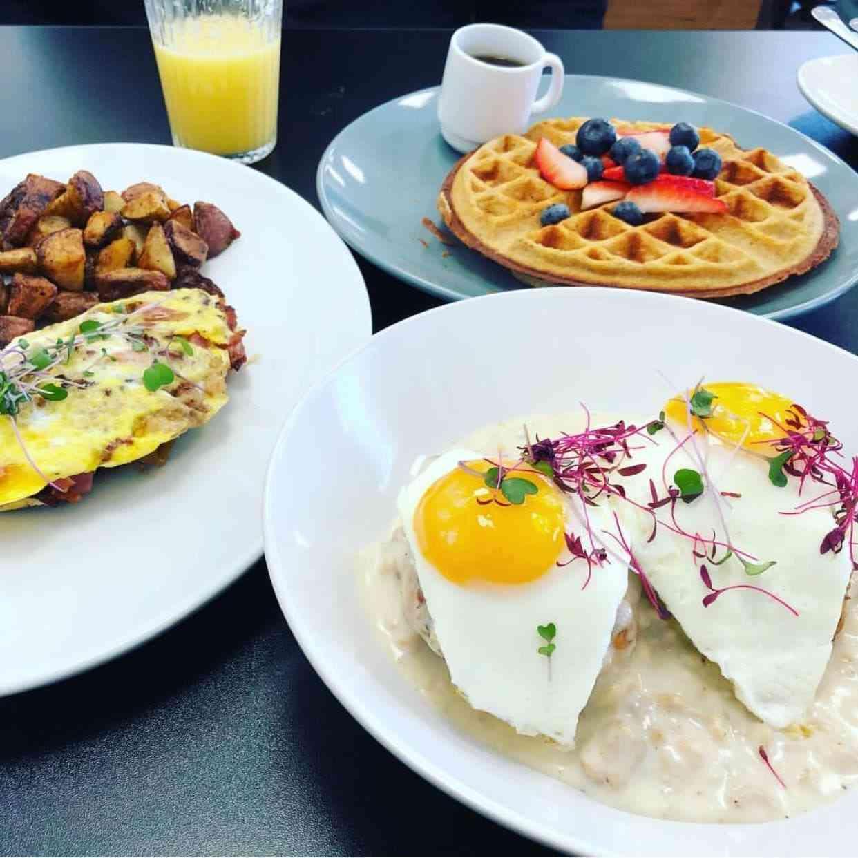 plates of breakfast