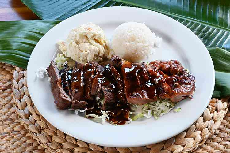 Teriyaki Beef & Chicken Plate
