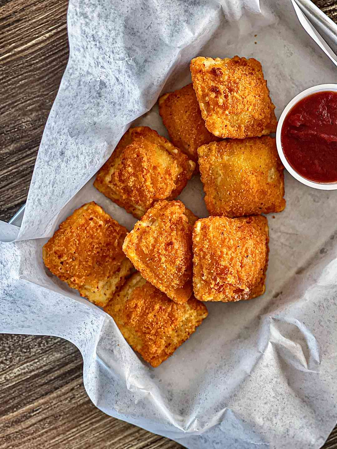 Fried Mozzarella Ravioli