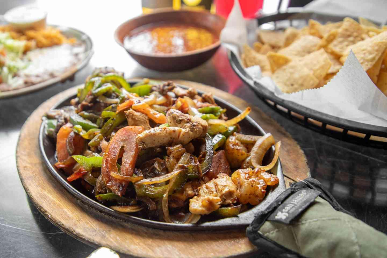 Steak, Chicken & Shrimp Fajitas