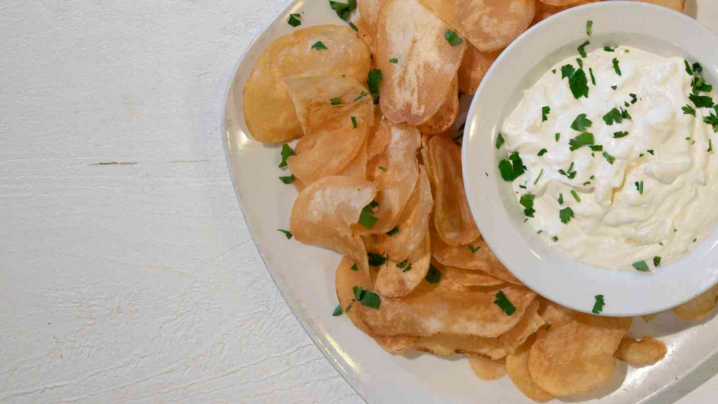 Chips and Onion Dip