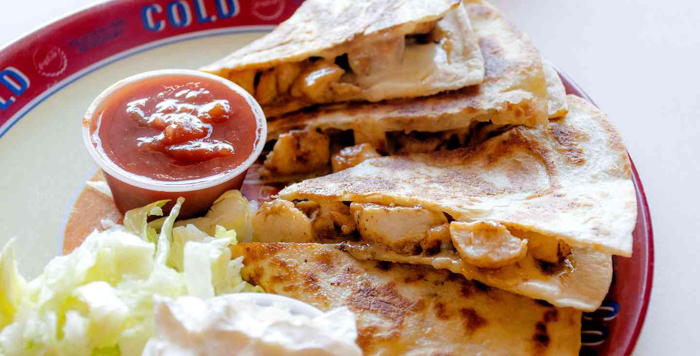 Brisket or Turkey Quesadilla