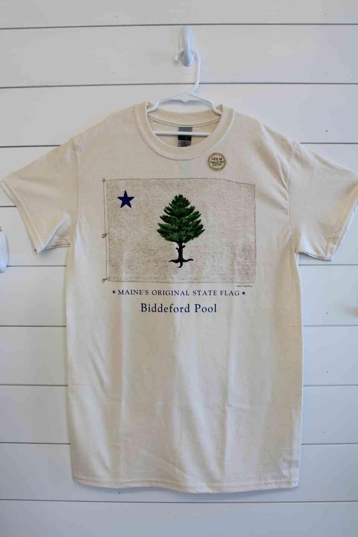 Historic Maine Flag Tee Shirt