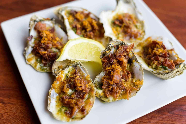 Garlic Bacon Oysters
