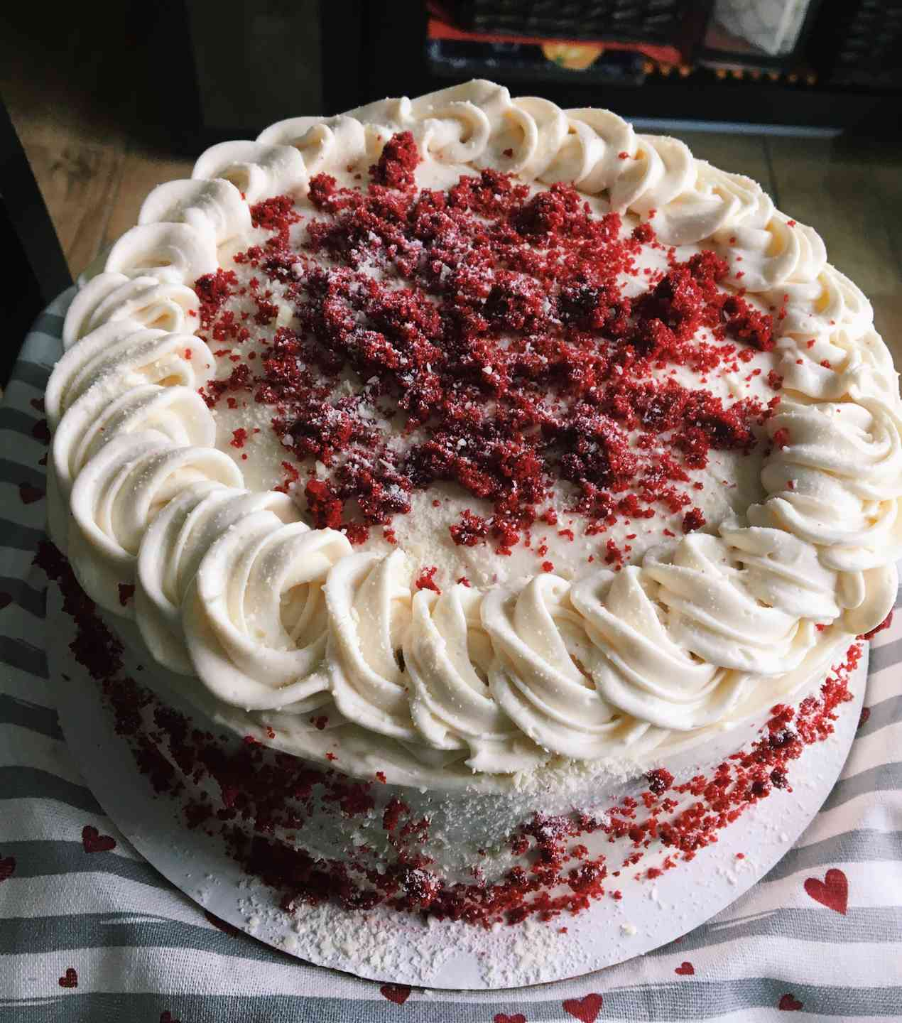 Homemade Red Velvet Cheesecake