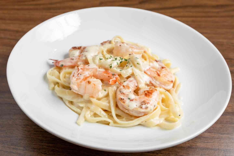 Fettuccini Alla Alfredo With Shrimp